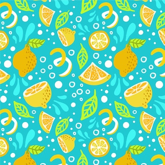 Fruits pattern with citrus