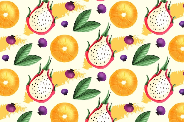 Modello di frutta con frutto del drago