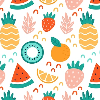 Fruits pattern with kiwi