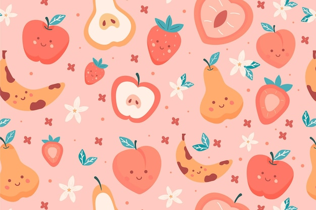 Fruits pattern with pears