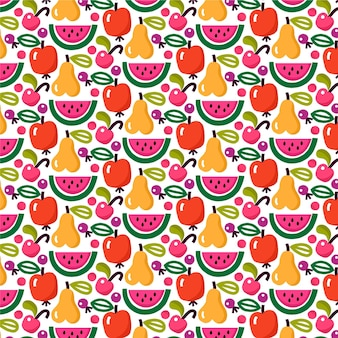 Fruits pattern with watermelon