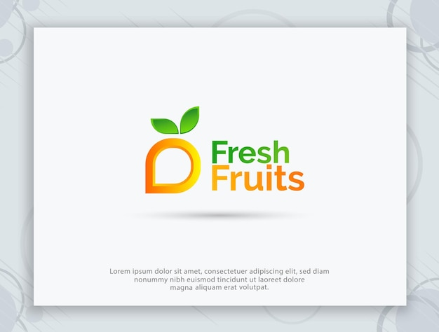 과일 가게 로고 디자인 및 문자 로고