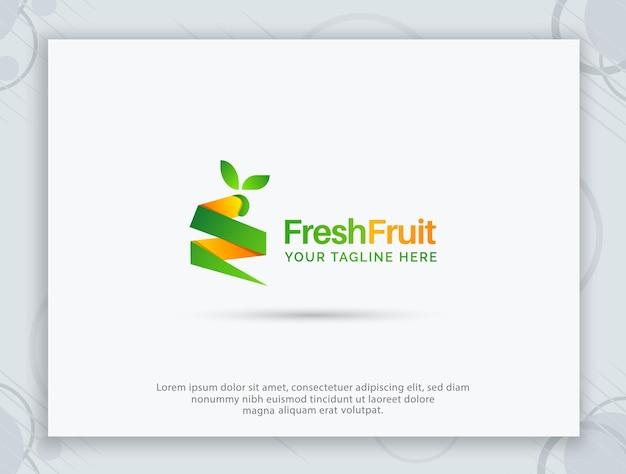 Fruits shop logo design and letter logo