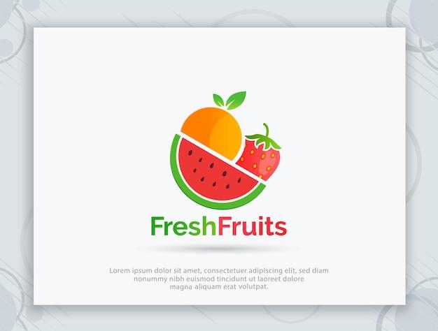 Фруктовый магазин векторный логотип дизайн