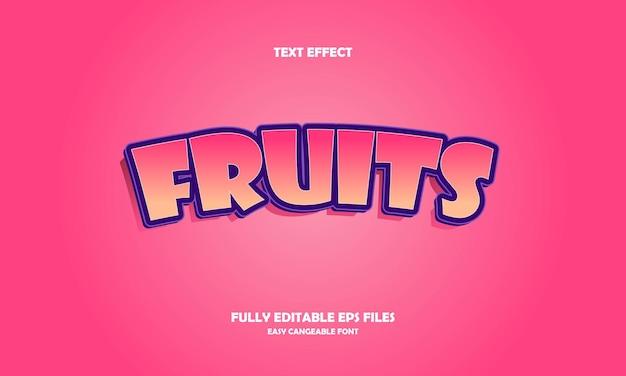 Fruits text effect
