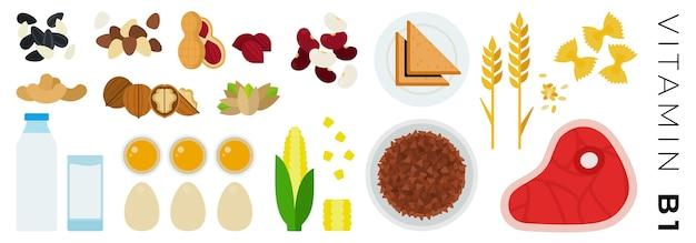 과일 야채 및 동물 제품 흰색 절연