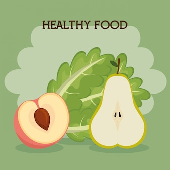 Fruits and vegetables healthy food