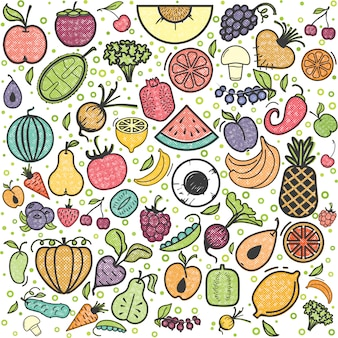 Fruits and vegetables pattern