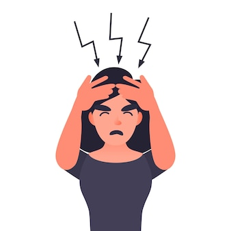 Frustrated woman with headache
