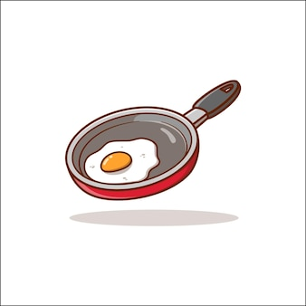 Жаркое яйцо значок иллюстрации