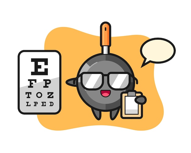 Frying pan mascot as a ophthalmology