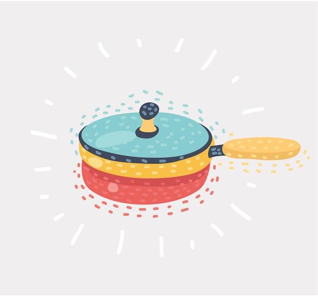 Frying pan single icon