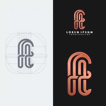 Ft monogram logo template