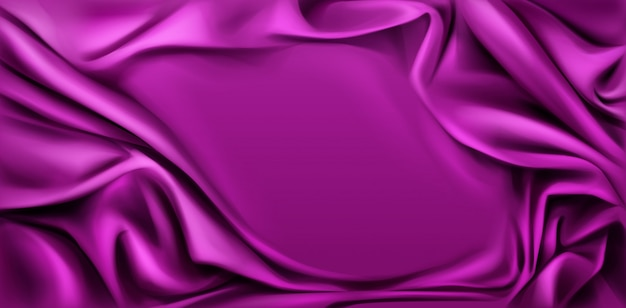 Fuchsia silk draped fabric background.