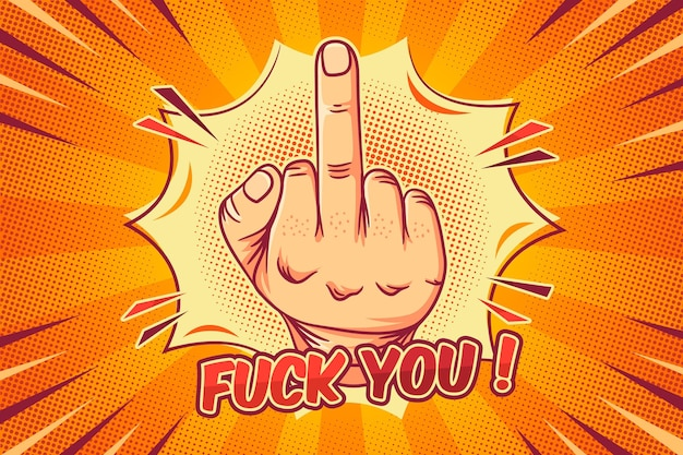 Fuck you symbol in comic style