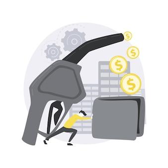 연료 경제 추상적 인 개념 그림입니다.