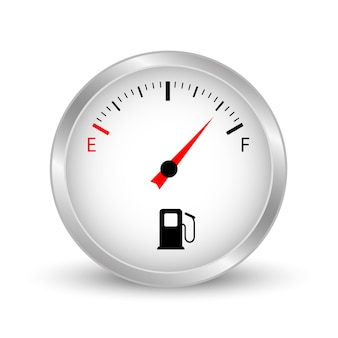 Fuel gauge. car fuel meter.