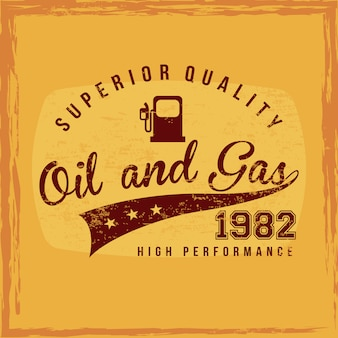 Fuel superior quality over orange background vector illustration