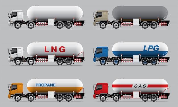 Fuel tank truck set