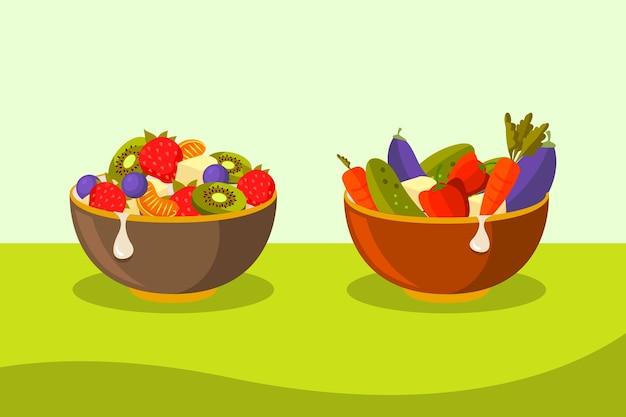 Концепция коллекции фьючерсов и салатников