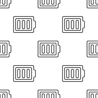 Full battery, vector seamless pattern, editable can be used for web page backgrounds, pattern fills