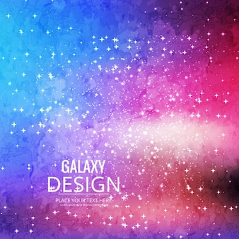 Full color background about the galaxy