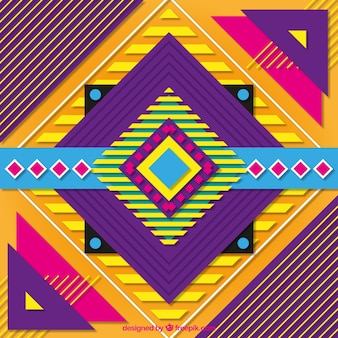 Full-color background with geometric shapes