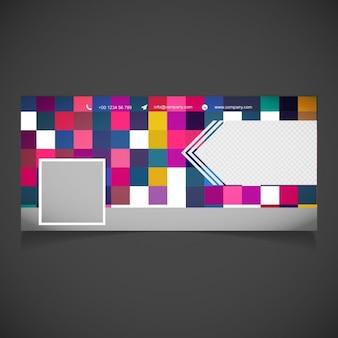 ピクセルの背景を持つフルカラーカバー