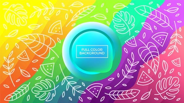 Full color floral background