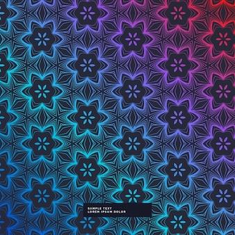 Абстрактный темный фон с цветочным узором