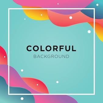Полноцветный жидкий фон