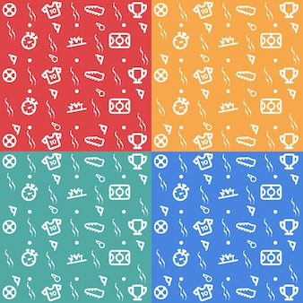Full color football pattern vector download