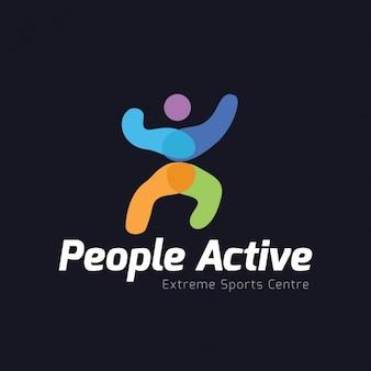 Full color logo on a black background