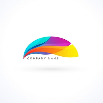 Full color logo with abstract shapes