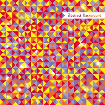 Full color polygonal pattern with triangles