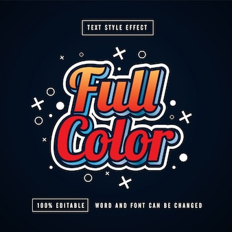 Full color text effect free vector