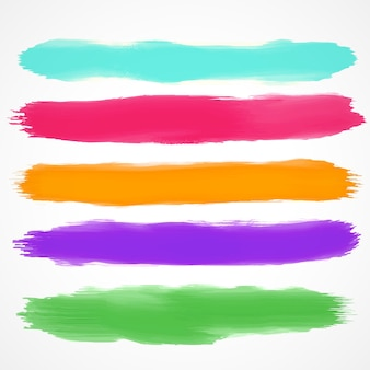 Full color watercolor brushes