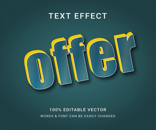 Full editable text effect with trendy style