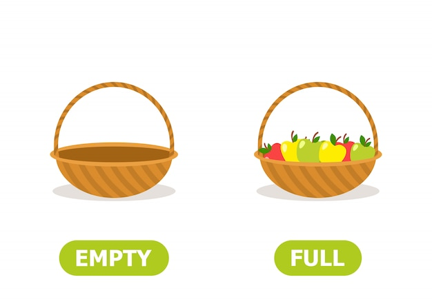 Full and empty basket