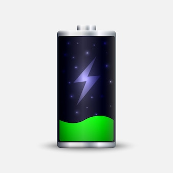 Full energy battery charge.