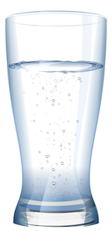 Full glass of cold fresh water