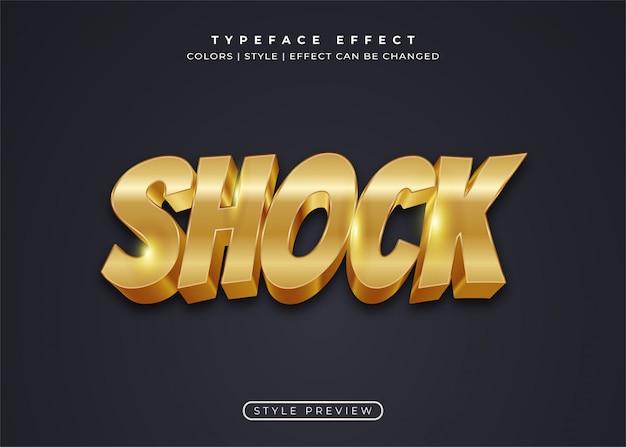 Полный золотой текстовый стиль в 3d-эффекте