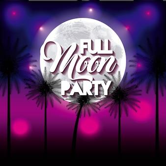 Full moon party summer night