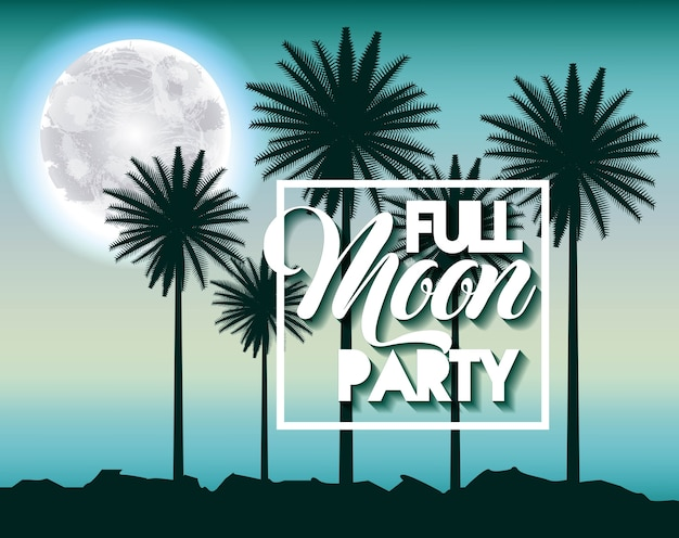 보름달 파티 여름