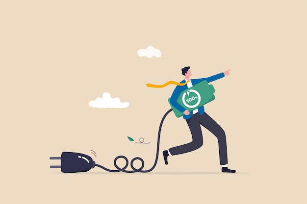 Full recharge energize, motivation to success in work, productive and efficiency