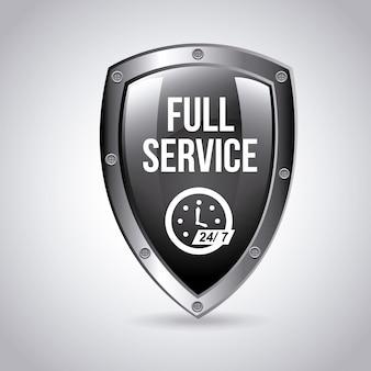 Full service emblem