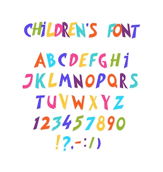 Full set of comic font.