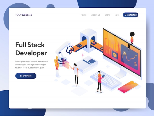 Full stack developer banner of landing page