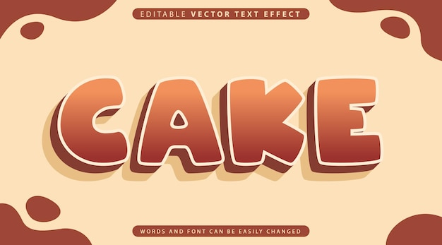 Fully editable text effect style