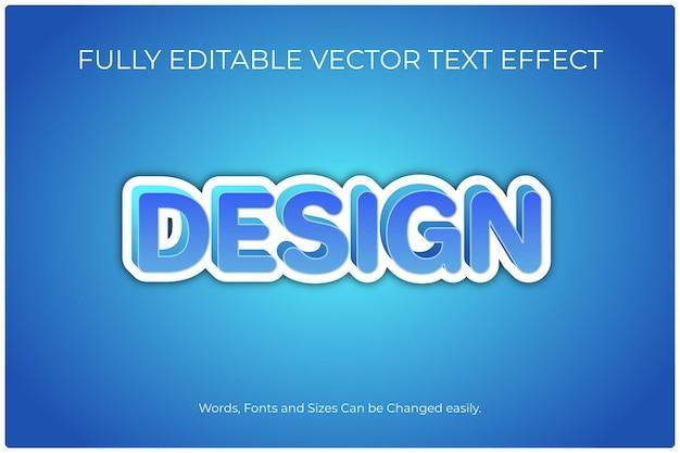 完全に編集可能なベクトルテキスト効果のデザイン